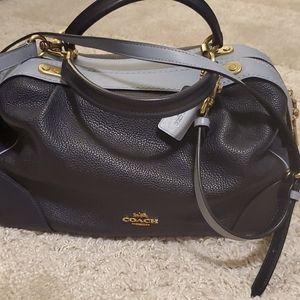 Two tone Coach satchel